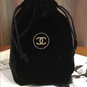 Chanel VIP Gift Travel Velvet Drawstring Bag